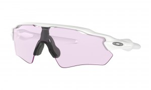 OAKLEY Radar EV Path Pol Whte w/ PRIZM LowLight